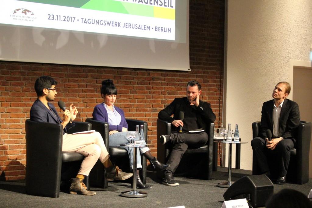 Diskussion Mohamed Amjahid, Mely Kiyak, Jo Frank, Christoph Wagenseil