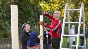 Tag 1: Sukka-Bau in Gollwitz