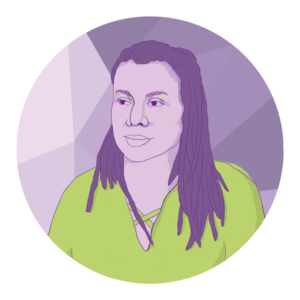 Nadja Ofuatey-Alazard, Journalistin, Kulturaktivistin, Kuratorin, Produktionsmanagerin, Moderatorin und Filmemacherin.
